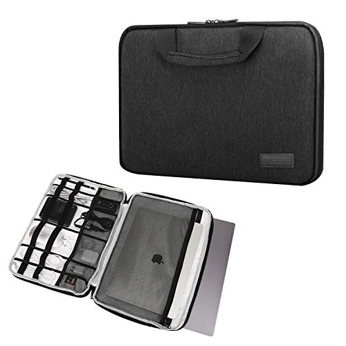 MoKo 15-15.6 Inch Laptop Sleeve Case Handle Electronic Accessories Protective Bag Fit for 15