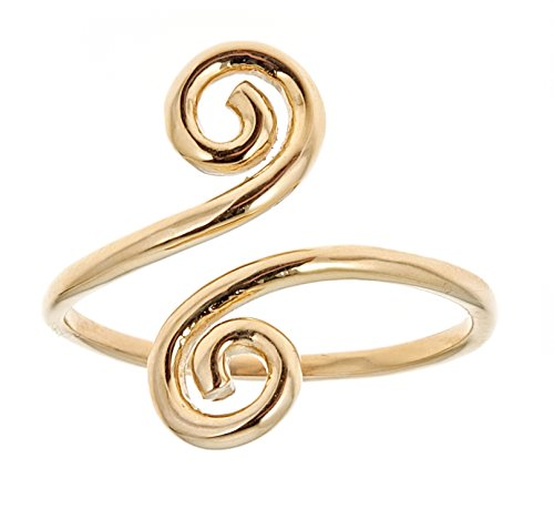 Ritastephens 10k Solid Yellow Gold Swirl Adjustable Ring or Toe Ring