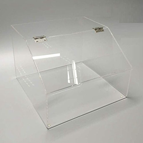 "FixtureDisplays 12 x 8.5 x 12"" Plaxiglass Candy Bin Acrylic Candy Dispenser Clear Transparent Treats Display w/Lid 100871-NF"