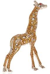 Alilang Gold Tone Yellow Animal Giraffe Spotted Texture Brooch Pin