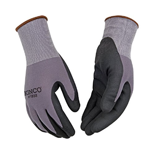 Kinco 1888-l Nylon Knit Shell & Micro-foam Nitrile Palm Gloves, Large (Pack of 6)