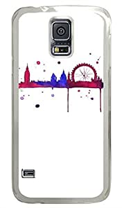 City Ferris Wheel PC Transparent Hard Case Cover Skin For Samsung Galaxy S5 I9600