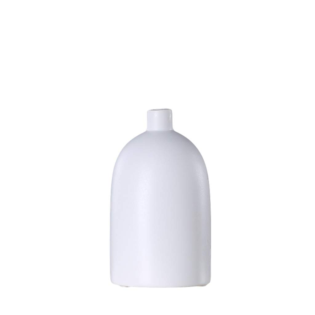 花瓶クリエイティブ小さな口のセラミック装飾品新しい中国の家のリビングルームドライフラワーフラワーアレンジャー家の柔らかい装飾家具 LQX (Size : M) B07RQKDH4C  Medium