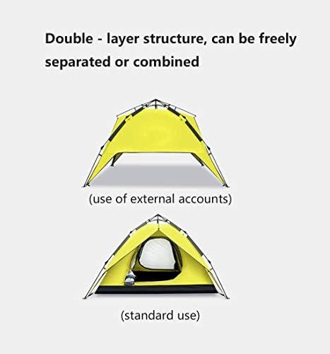 JX-ZHANGPENG Tienda de la bóveda al Aire Libre 2 Personas Camping Casa Camping Anti-tormenta Carpa Engrosamiento 3-4 Personas Familia hidráulico automático
