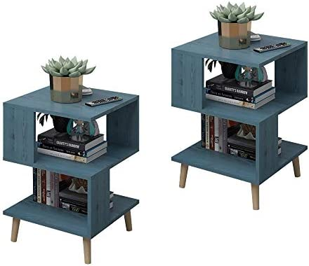 Pack of 2 GDLMA Night Stand Sofa Side Table Convenient Low Table