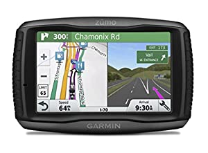 Garmin Zumo Lm  Inch Motorbike Satellite Navigation With Uk Ireland And Full Europe Maps Free Lifetime Map Updates Bluetooth And Car Mount Included