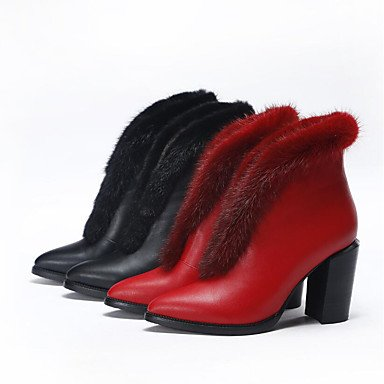 Botas de mujer verano PU Confort confort informal Ruby plana en blanco y negro Ruby