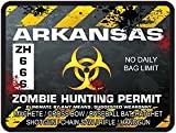REFLECTIVE Arkansas Zombie Hunting Permit Decal Danger Zone Style