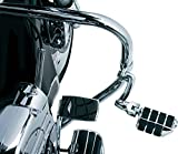 Kuryakyn 4575 Motorcycle Foot Controls: Longhorn Offset Dually Highway Pegs with Magnum Quick Clamps for 1-1/4'' Engine Guards/Tubing, Chrome, 1 Pair