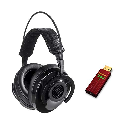 AudioQuest - Nighthawk Carbon Headphones & Dragonfly Red Bundle
