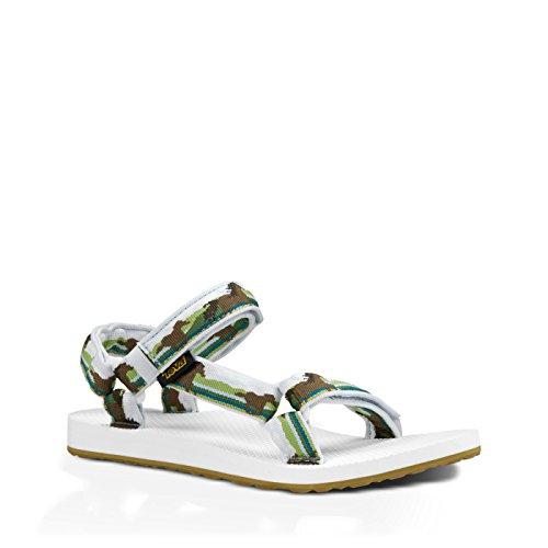 Teva Damen Original Universal Sandale Pferde grün