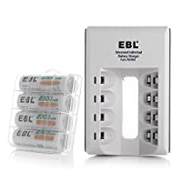 EBL Smart Battery Charger with AA Rechargeable Batteries 2300mAh (4 Packs)