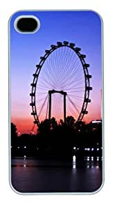 iphone 4S most protective case Night under the Ferris wheel PC White for Apple iPhone 4/4S
