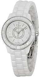 Christian Dior VIII Diamond White Ceramic Ladies Watch CD1221E2C001