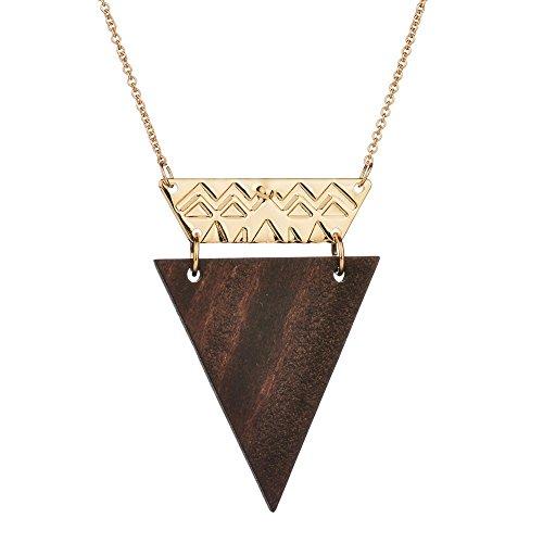 Baroque Sugar Spoon (Miweel Original Exclusive Design Triangular Wood Piece Long Necklace)