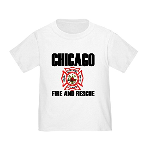 CafePress Chicago Fire Department Toddler T-Shirt Cute Toddler T-Shirt, 100% Cotton White