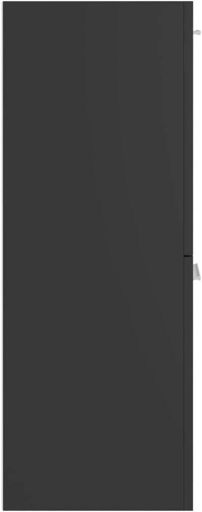 vidaXL Armoire de Salle de Bain Meuble de Rangement Armoire Murale Placard de Salle de Bain Maison Int/érieur Gris 30x30x80 cm Agglom/ér/é
