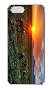 most protective case wild horses sunset PC Transparent Case for iphone 5/5S