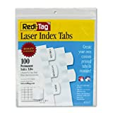 Laser Printable Index Tabs, 1 1/8 Inch, White, 100/Pack, Sold as 1 Package