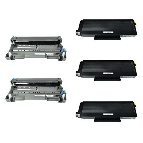 (NineLeaf 5 Pack Combo TN650 Toner Cartridge DR620 Drum Cartridge Compatible for Brother DCP-8060 DCP-8065DN MFC-8460N MFC-8470DN MFC-8660DN MFC-8670DN HL-5240 HL-5250DN)