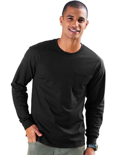 Assorted Pockets Displays (Hanes Men's TAGLESS® Long-Sleeve T-Shirt with)