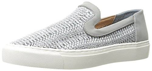 STEVEN by Steve Madden Womens Kenner Leather Low Top Slip On, Grey, Size 11.0