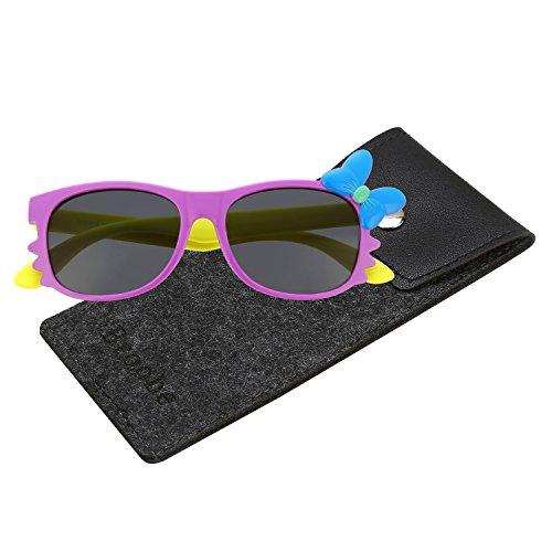 Brooben Flexible Kids Sports Sunglasses Polarized Glasses for Junior Boys Girls Age 3-15 - For Juniors Sunglasses Cute
