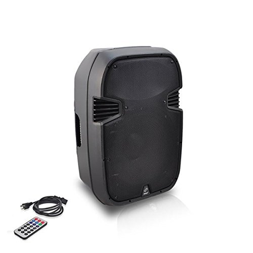 Powered Ipod Speaker System (PylePro PPHP157AI 15'' 1400 Watt Powered 2-Way Full Range PA Loudspeaker System with Built-in 30-Pin iPod Dock, USB Flash, SD Memory Card Readers, LCD Display, Mic Input, Remote Control)