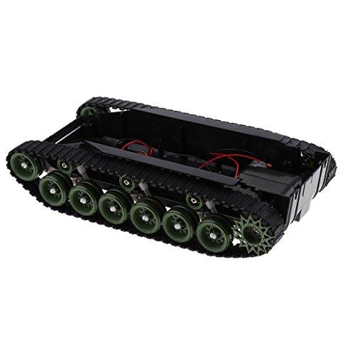 Kesoto DIYロボットキット 科学実験おもちゃ 260モーター ライトショック スマートロボットタンク車のシャーシ プラスチック製