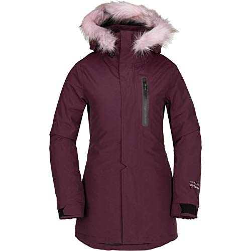 (Volcom Women's Eva Insulated Gore-Tex Snow Jacket, Merlot,)