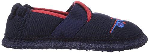 Nanga NG 1 - pantuflas de lana niño azul - Blau (Dunkelblau 32)