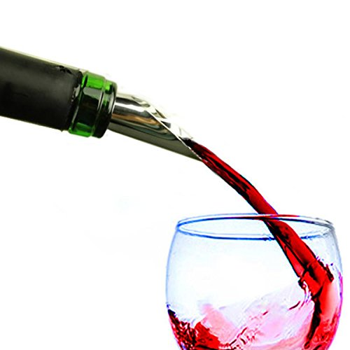 Stainless Steel Vacuum Wine Bottle Stopper Plug Funnel Pourer Decanter frees shipping (Wine Bag Spigot compare prices)