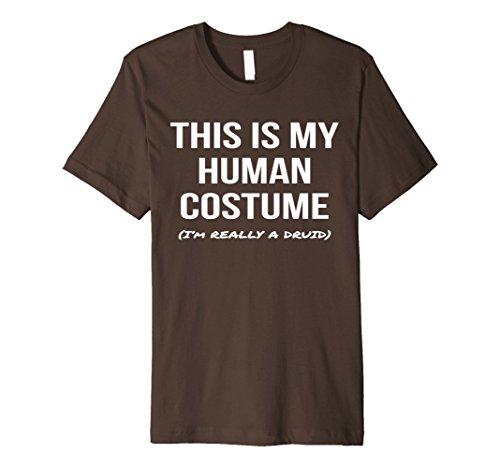 Druid Halloween Costume (Mens Human Costume I'm Really a Druid Shirt Halloween Tee Small Brown)