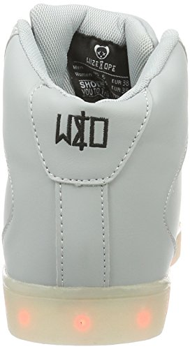 LED Grey Wize 05 Adulte Ope Gris amp; Mixte Baskets Basses Hi Bianco P4Ervqw4x