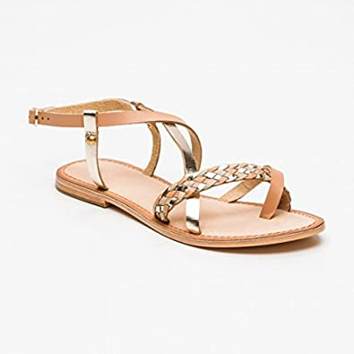 Sandales Calank Tongs Taille Paola 39 Or SGzMVpqU