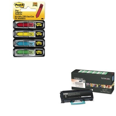 KITLEXX463X11GMMM684SH - Value Kit - Lexmark X463X11G Extra High-Yield Toner (LEXX463X11G) and Post-it Arrow Message 1/2amp;quot; Flags (MMM684SH)