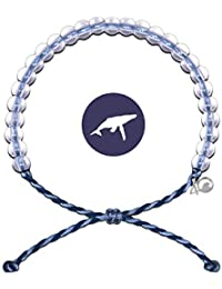 Bracelet with Charm Made from 100% Recycled Material Upcycled Jewelry (Whale)