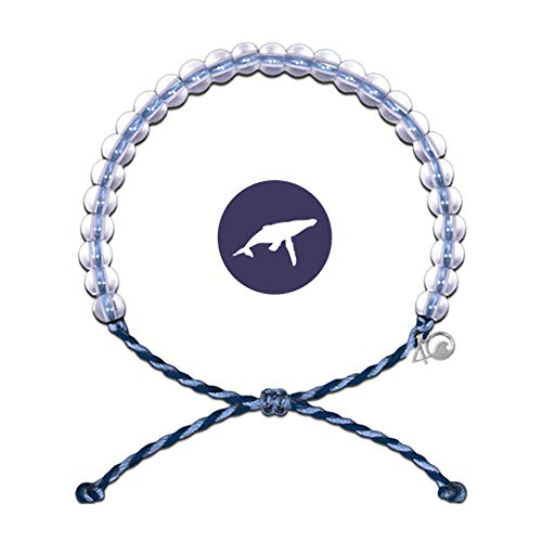 (4Ocean Bracelet with Charm Made from 100% Recycled Material Upcycled Jewelry (Whale))