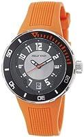 Philip Stein Men's 34-BRG-RO Extreme Orange Rubber Strap Watch by Philip Stein