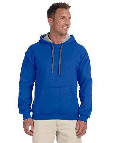 En Multicolore gris royal Gildan Hombre Contraste De Capucha Y Para sport Bleu Sudadera Deporte Grey Forro Roi Con qCPA0wq