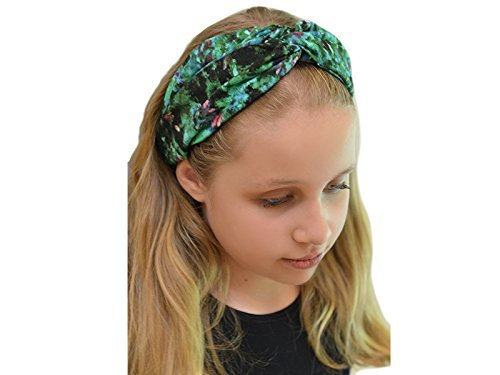 Amazon.com  Luzreal Women s Green Floral Turban Headband  Handmade 7fd51bc2f04
