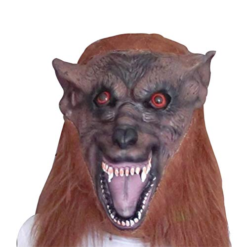 (BESTOYARD Eco-Friendly Latex Wolf Head Mask for Balls Parties All Saints' Day Bear Bar Decoration)
