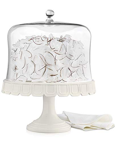 Martha Stewart Collection Facet Cake Stand With Dome