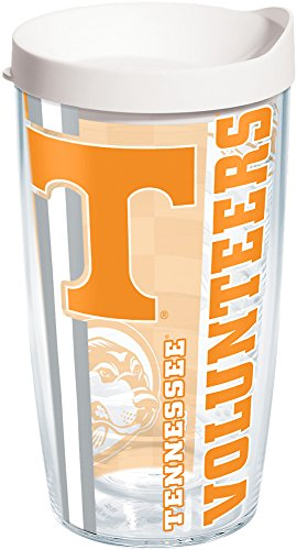 (Tervis 1215464 Tennessee Volunteers College Pride Tumbler with Wrap and White Lid 16oz, Clear)