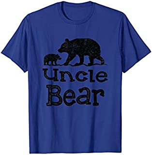 Cool Gift Uncle Bear Father's Day  Funny Uncle Tee Women Long Sleeve Funny Shirt / Navy / S - 5XL