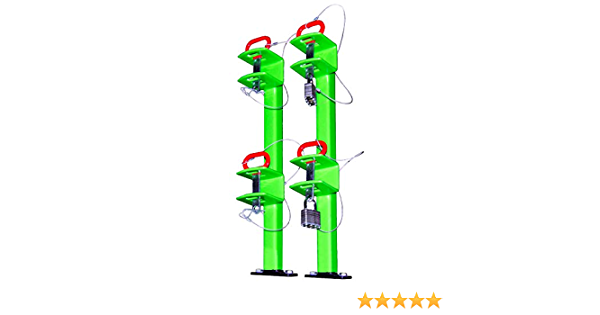 green touch two position trimmer rack for open trailers classic series industries