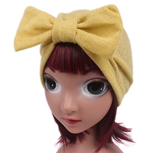 3b8ef51f733 Amazon.com  Qhome Kids Jersey Bow Turban Hats For Kids Girls Gift Kids  Headcover Chemo Bandana Hijab Wool Blend Hat Indian Caps  Clothing