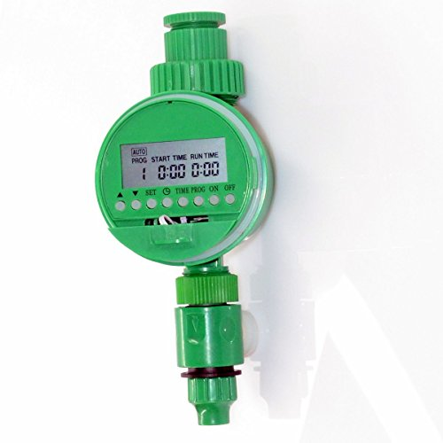 Watering timer Water Timerfor Garden Agriculture Irrigation Controller simple to set 1-16 Programs Medog LCD Digital Program, watering time 1-120mins, watering cycle 1hour to 3days timer (03LCA GN)