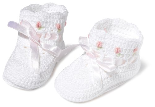 Country Kids Rosebud Bootie White, 0-6 Months ()