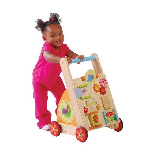 Solid Wood Activity Walker Toy For Toddlers by Constructive Playthings
